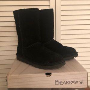 Bearpaw Elle Short Black Boots Womens 7 M